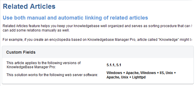 Users view custom fields in front-end of Knowledge Base Software