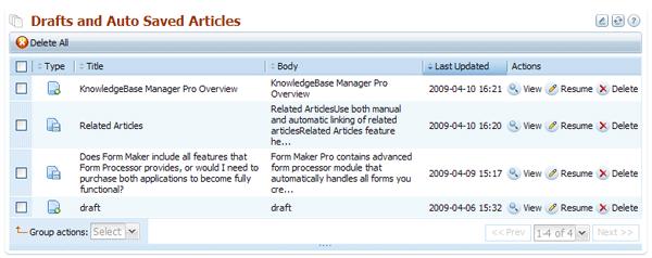 Drafts module