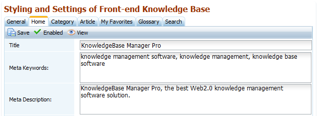 Meta Data for Home Page of Best Knowledge Base Software
