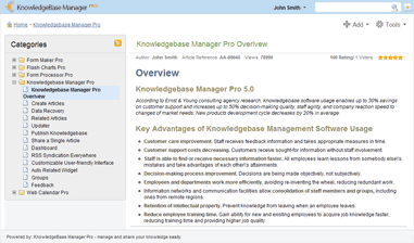 Knowledge Base Manager Pro - Knowledge Management Software Solution for knowledge base management. Best Knowledge Base Software for your organization!