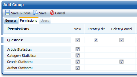 New permissions in knowledge base software.